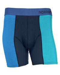 Norrona - Blue Wool Boxer for Men - Lyst