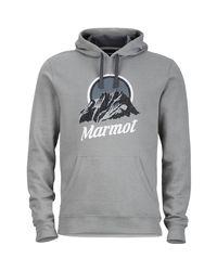 Marmot - Gray Pikes Peak Pullover Hoodie for Men - Lyst