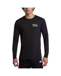 Hurley - Black Dri-fit Island Style Long-sleeve T-shirt for Men - Lyst