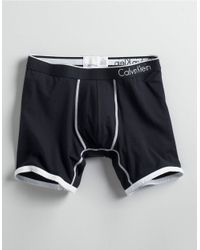 Calvin Klein | Black Microfiber Boxer Briefs for Men | Lyst