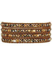 Chan Luu   Metallic 32' Abalone Mix Crystal Wrap Bracelet   Lyst