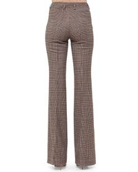 Akris - Brown Farrah Prince Of Wales Boot-cut Pants - Lyst