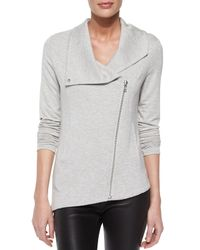 Helmut Lang - Gray Villous Sweatshirt Jacket - Lyst