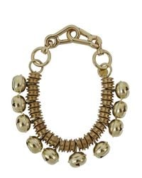 Moxham | Metallic Roma Bell Embellished Gold Plated Necklace | Lyst