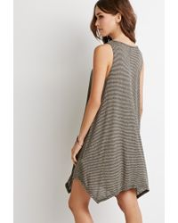 Forever 21 | Gray Classic Striped Mini Dress | Lyst