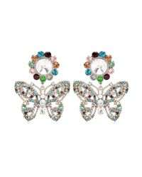 Miu Miu - Multicolor Embellished Clip-on Earrings - Lyst