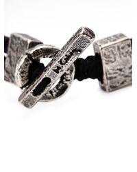 M Cohen | Metallic Silver Plaque Bracelet for Men | Lyst