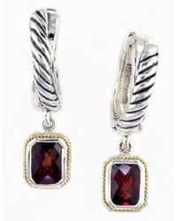 Lord & Taylor | Metallic Garnet, Sterling Silver And 18k Yellow Gold Drop Earrings | Lyst