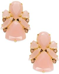 kate spade new york | Pink 14k Gold-plated Color Pop Stud Earrings | Lyst