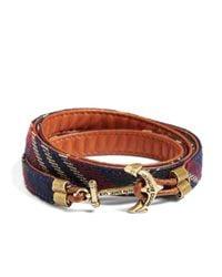 Brooks Brothers | Blue Kiel James Patrick Signature Tartan Wrap Bracelet for Men | Lyst