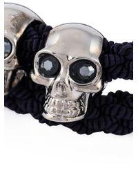 Alexander McQueen | Blue Woven Skull Bracelet for Men | Lyst