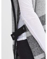 Banana Republic - Gray Heritage Blanket-stripe Sweater Cape - Lyst
