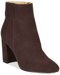 Nine West | Brown Whynot Suede Dress Booties | Lyst