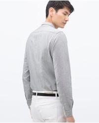 Zara | Gray Long Sleeve Shirt for Men | Lyst