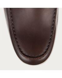 Bally - Brown Mickel Men ́s Leather Boat Shoe In Dark Tan for Men - Lyst