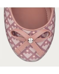 Bally - Pink Dulcina Women ́s Canvas Crescent Toile Ballerina Pump In Rosehaze - Lyst