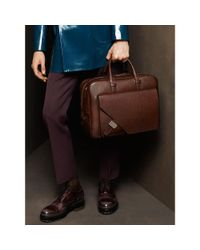 Bally - Brown Gilardi Men ́s Leather Business Bag In Dark Tan for Men - Lyst