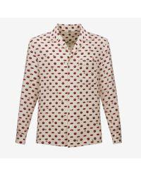 Bally - Multicolor Lip Print Silk Pyjama Style Shirt for Men - Lyst