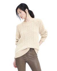 Banana Republic | Natural Limited Edition Cable Knit Sweatshirt | Lyst