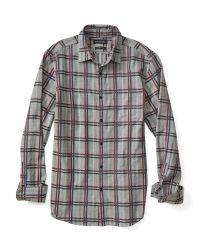 Banana Republic   Blue Camden-fit Luxe Flannel Windowpane Shirt for Men   Lyst