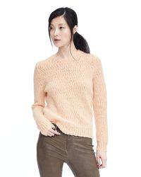 Banana Republic | Pink Textured Sweatshirt | Lyst