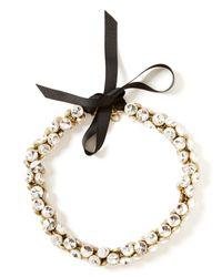 Banana Republic | Metallic Ice Cut Button Necklace | Lyst