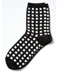 Banana Republic | Black Gingham Plaid Trouser Sock | Lyst