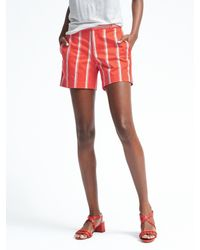 Banana Republic | Red Ryan-fit Stripe Sateen Short | Lyst