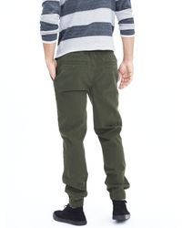 Banana Republic | Green Aiden Slim Twill Jogger Pant for Men | Lyst