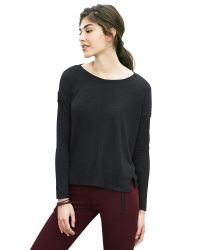 Banana Republic | Black Slubbed High/low Tee | Lyst