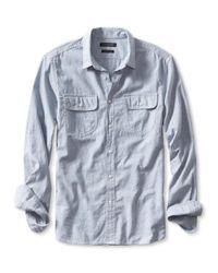 Banana Republic - Blue Grant-fit Custom Wash Acorn Pocket Shirt for Men - Lyst