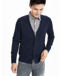 Banana Republic - Blue Silk Cotton Cashmere Cardigan for Men - Lyst