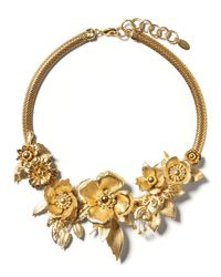 Banana Republic | Metallic Elizabeth Cole Golden Glow Floral Necklace | Lyst