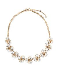 Banana Republic - Metallic Clear Sparkle Cluster Necklace - Lyst