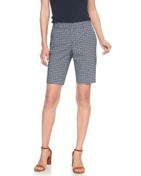 Banana Republic Factory - Blue Tailored Abstract Geo Jacquard Bermuda Short - Lyst