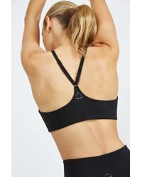 Beyond Yoga - Gray Around The Colorblock Bra - Lyst