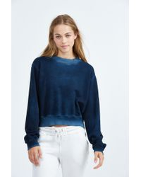Cotton Citizen - Blue Milan Cropped Crewneck Sweatshirt - Lyst