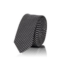 Saint Laurent - Black Striped Silk for Men - Lyst