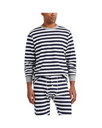 Sleepy Jones - Blue Keith Striped Cotton Pajama Top for Men - Lyst