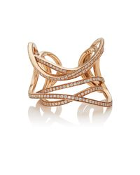 Dauphin - Metallic Serpentine Cuff Ring - Lyst