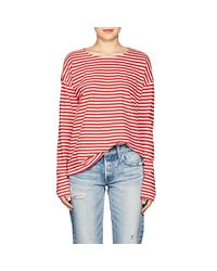 Current/Elliott - Red The Breton Striped Cotton T - Lyst