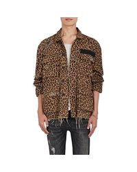 R13 - Brown Abu Shredded Cotton Field Jacket for Men - Lyst