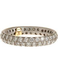 Linda Lee Johnson - Metallic Diamond Serena Ring - Lyst