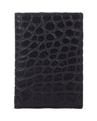 Barneys New York - Black Alligator Folding Card Case for Men - Lyst