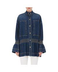 Stella McCartney - Blue Denim Outerwear - Lyst