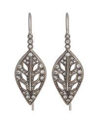Cathy Waterman - Metallic Leaf Drop Earrings - Lyst