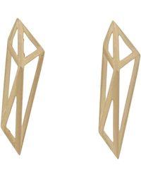 Monique Péan | White Gold Geometric Drop Earrings | Lyst