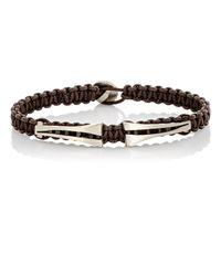 Zadeh - Brown Macramé Bracelet for Men - Lyst
