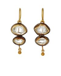 Judy Geib - Metallic Herkimer Diamond Double-drop Earrings - Lyst