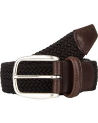 Barneys New York - Black Men's Woven Elastic Belt for Men - Lyst